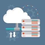 SMAU 2010 - de wolk van Microsoft gegevensverwerking De opslag van wolkengegevens royalty-vrije illustratie