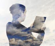 SMAU 2010 - Microsoft nubla-se a computação Fotografia de Stock Royalty Free