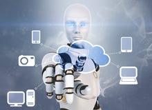 SMAU 2010 - Microsoft nubla-se a computação Foto de Stock