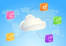 SMAU 2010 - Microsoft se nubla la computación ilustración del vector