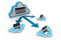 SMAU 2010 - Microsoft-Wolkendatenverarbeitung lizenzfreie abbildung