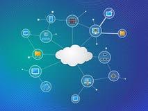 SMAU 2010 - Microsoft-Wolkendatenverarbeitung stockfoto