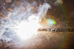 Free SMAW – Shielded Metal Arc Welding And Welding Fumes. Royalty Free Stock Image - 76133016