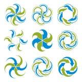 Símbolo abstracto de las flechas del bucle infinito, gráfico Fotografía de archivo libre de regalías
