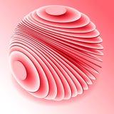 Símbolo abstrato do globo ícone da esfera 3d por discos O Cyberspace 3d rende Imagem de Stock