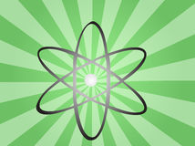 Símbolo atômico Foto de Stock Royalty Free