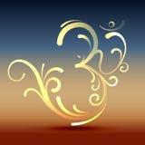 Símbolo con estilo de OM Fotografía de archivo libre de regalías
