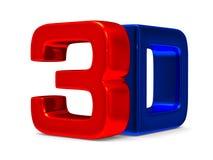 símbolo 3D en el fondo blanco Fotografía de archivo libre de regalías