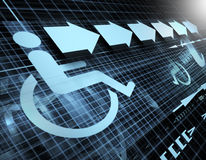 Símbolo da acessibilidade Foto de Stock Royalty Free