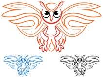 Símbolo da coruja Fotos de Stock