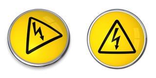 Símbolo da eletricidade da tecla Imagem de Stock Royalty Free