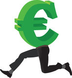 Símbolo da euro- moeda Foto de Stock Royalty Free