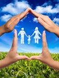 símbolo da família na casa Imagens de Stock Royalty Free