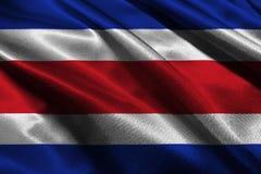 Símbolo da ilustração da bandeira 3D de Costa Rica Fotos de Stock