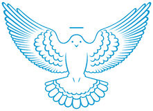 Símbolo da pomba do vetor Imagem de Stock Royalty Free