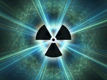 Símbolo da radiação nuclear Fotos de Stock