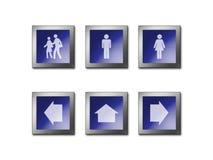 Símbolo de advertência do sinal Fotos de Stock