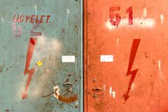 Símbolo de alta tensão Imagens de Stock Royalty Free