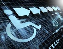 Símbolo de la accesibilidad Foto de archivo libre de regalías