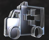 Símbolo de la ambulancia en el vidrio - 3d Foto de archivo