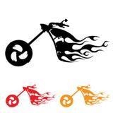 Símbolo de la motocicleta Imagen de archivo libre de regalías