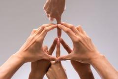 Símbolo de la paz Fotografía de archivo