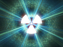 Símbolo de la radiación nuclear Foto de archivo