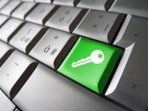 Símbolo de la seguridad de la tecla de acceso Imagen de archivo