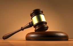 Símbolo de Law And Justice do juiz Imagem de Stock