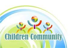 Símbolo de los niños de la comunidad Fotografía de archivo