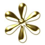 Símbolo de oro del asterisco Imágenes de archivo libres de regalías