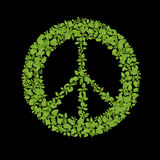 Símbolo de paz de la planta verde Foto de archivo libre de regalías