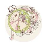 Símbolo de paz del Hippie Imagen de archivo libre de regalías