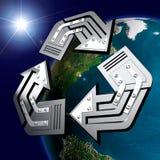 Símbolo de reciclaje conceptual Imagenes de archivo