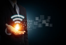 Símbolo de Wifi Imagens de Stock Royalty Free