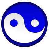 Símbolo de Yin Yang rendição 3d Foto de Stock Royalty Free