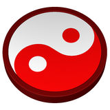Símbolo de Yin Yang representación 3d Foto de archivo