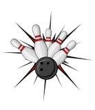 Símbolo del bowling Imagen de archivo libre de regalías