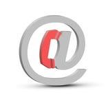 símbolo del email 3d Imagenes de archivo