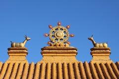 Símbolo del monasterio del buddhism Fotografía de archivo libre de regalías