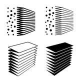 Símbolo del negro del efecto del filtro de aire Imagenes de archivo