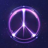 Símbolo del Pacífico de la luz de neón Fotografía de archivo libre de regalías