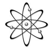 Símbolo del átomo Imagenes de archivo