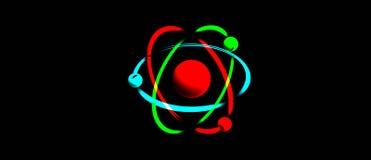 Símbolo del átomo Imagen de archivo libre de regalías