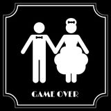 Símbolo divertido de la boda - juego encima Imágenes de archivo libres de regalías