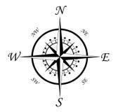 Símbolo do compasso Fotografia de Stock