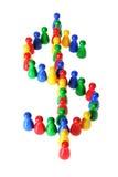 Símbolo do dólar Fotos de Stock Royalty Free