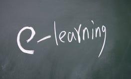 Símbolo do ensino electrónico Imagem de Stock