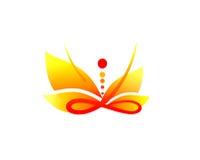 Símbolo do equilíbrio do treinamento e de energia Fotos de Stock Royalty Free