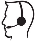 Símbolo dos auriculares Imagem de Stock